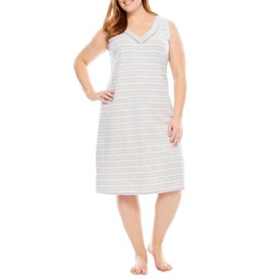 Liz Claiborne Jersey Stripe Nightshirt