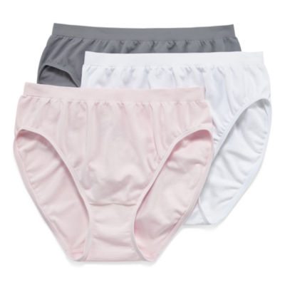 Jockey Comfies® 3 Pair Microfiber High Cut Panty