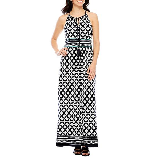 Studio 1 Sleeveless Geometric Maxi Dress