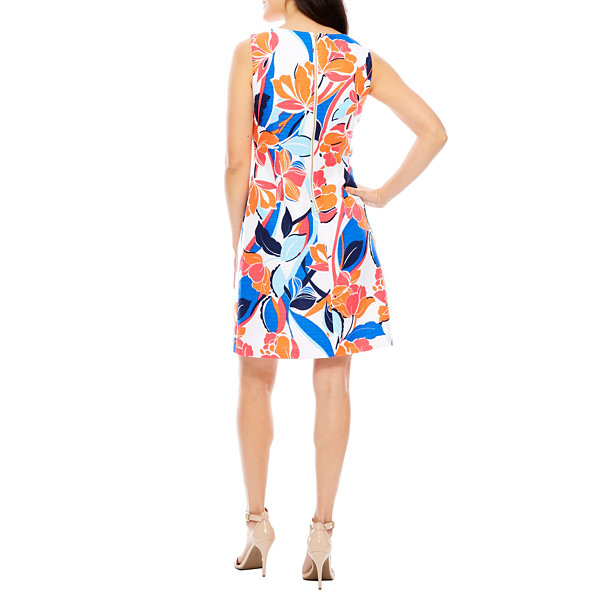 Ronni Nicole Sleeveless Floral Sheath Dress