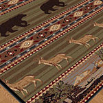 Tayse Nature Expeditin Wildlife Runner Rug