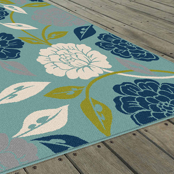 Tayse Garden City Peony Rectangular Runner