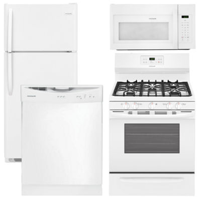 Frigidaire 4 pc Gas Kitchen Package - White