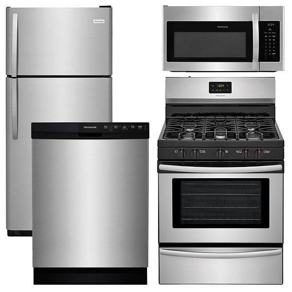 frigidaire 4 pc gas kitchen package   stainless steel frigidaire ffgf3052td 4 pc gas kitchen package   stainless steel      rh   jcpenney com
