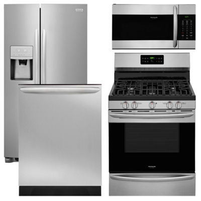 Frigidaire 4 pc Gas Kitchen Package - Stainless Steel