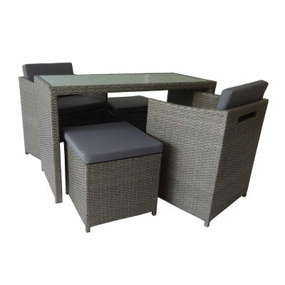 ALEKO Outdoor Foggia Wicker 5 Piece Furniture Set