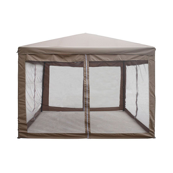 ALEKO Fully Enclosed Outdoor Garden Gazebo Canopy with Mesh Insect Screen