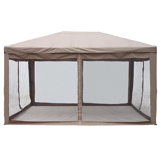 ALEKO Outdoor Fully Enclosed Garden Gazebo Canopy with Mesh Insect Screen