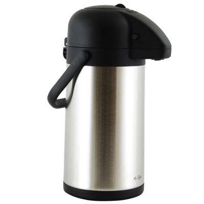 Mr Coffee Javamax 2.24 Quart Stainless Steel Vacuum Sealed Double Wall Pump Pot