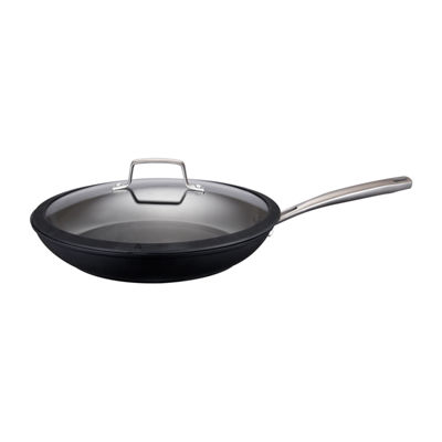 "Cooks Signature Black Matte 12"" Covered Skillet"