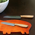 Gibson Home Seward 2 piece Stainless Steel Santoku Cutlery Set with Wooden Handle