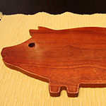 Gibson Home General Store Hollydale Pig Shape Cutting Board