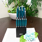 Oster Lindbergh 14 piece Cutlery Set in Teal