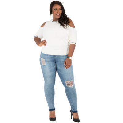 Poetic Justice Curvy Skinny Jean With Released Hem - Plus