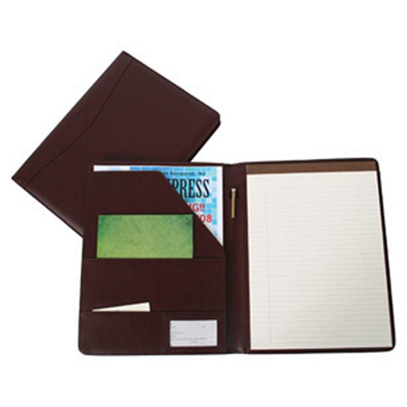 Royce Leather 749-8 Padfolio, Burgundy, One Size