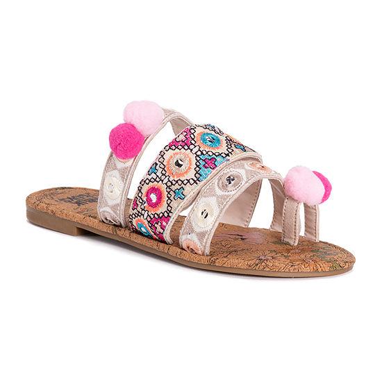 Muk Luks Womens Rory Flat Sandals