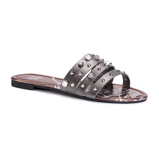 Muk Luks Womens Lexi Flat Sandals