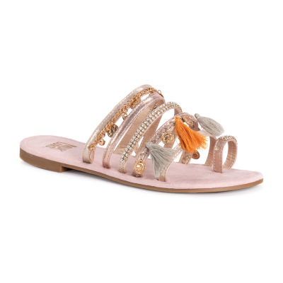 Muk Luks Womens Hadlee Flat Sandals