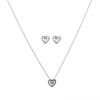Danecraft Pink Silver Tone 2-pc. Jewelry Set