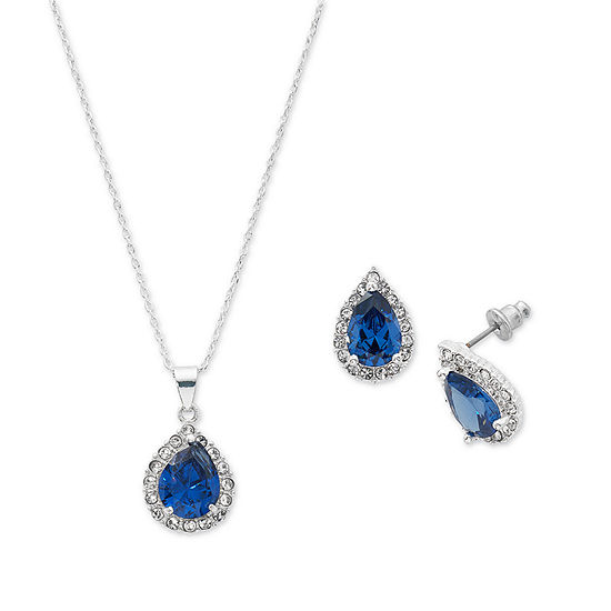 Danecraft Blue Silver Tone 2-pc. Jewelry Set