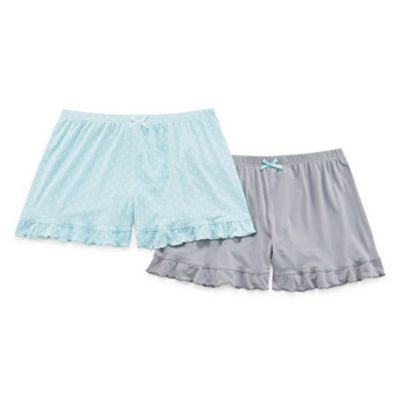 Pj Couture Women's 2 Pack Ruffle Hem Shorts