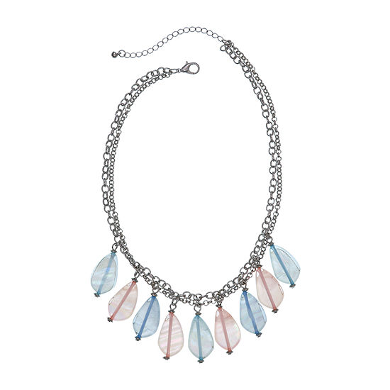 Mixit 17 Inch Cable Beaded Necklace