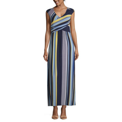 Spense Sleeveless Striped Maxi Dress