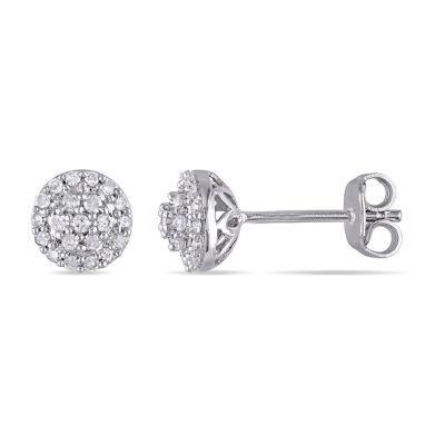1/4 CT. T.W. Genuine White Diamond 6.3mm Stud Earrings