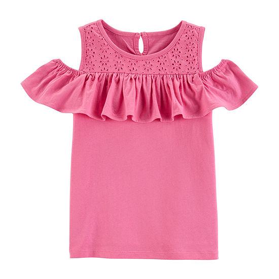 Oshkosh Girls Short Sleeve Tunic Top - Preschool