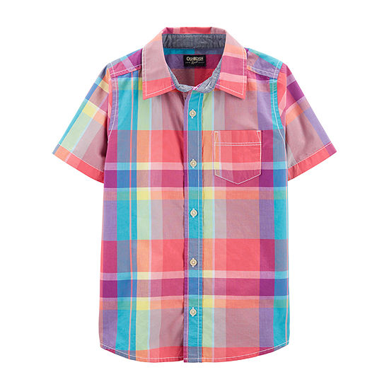 Oshkosh Boys Short Sleeve Button-Front Shirt