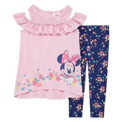 Disney Forever Me 2-pc. Minnie Mouse Legging Set-Toddler Girls