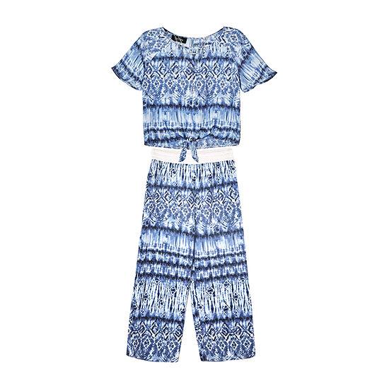 by&by girl 2-pc. Tie Dye Pant Set Big Kid Girls