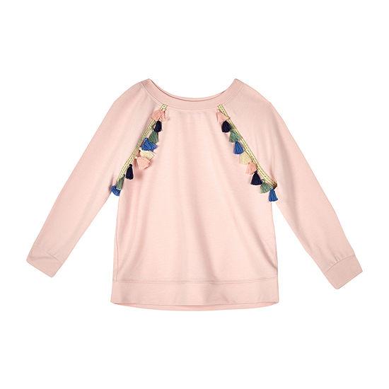 by&by girl Girls Crew Neck Long Sleeve Sweatshirt - Big Kid
