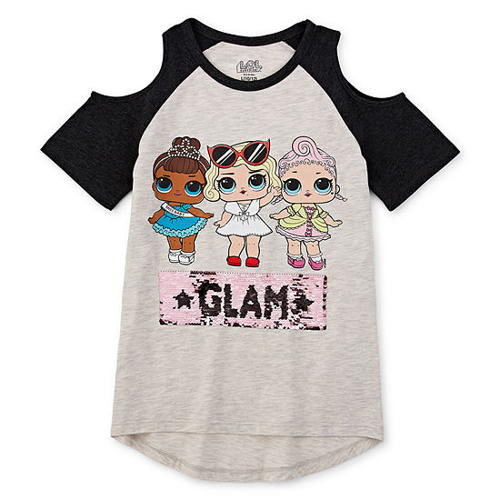 LOL Surprise! Girls Round Neck Short Sleeve Graphic T-Shirt Preschool / Big Kid