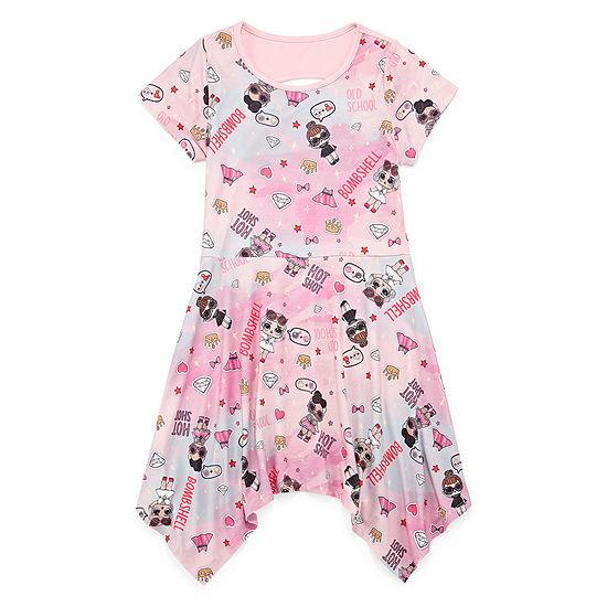 LOL Surprise! Girls Short Sleeve A-Line Dress - Preschool / Big Kid