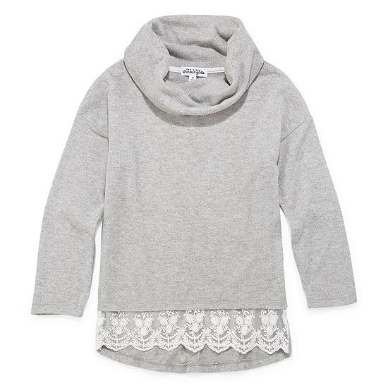 Disorderly Kids Girls Cowl Neck Long Sleeve T-Shirt-Big Kid