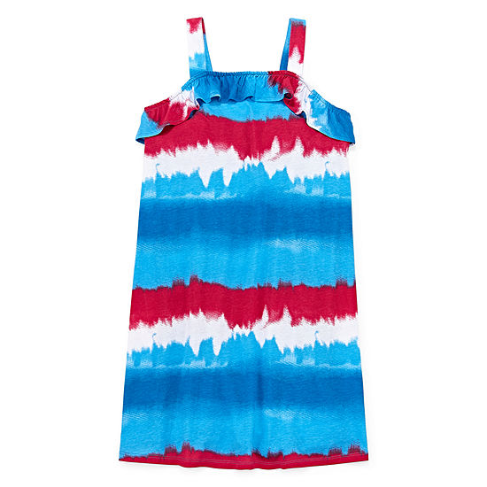 City Streets Little & Big Girls Sleeveless Tie Dye A-Line Dress