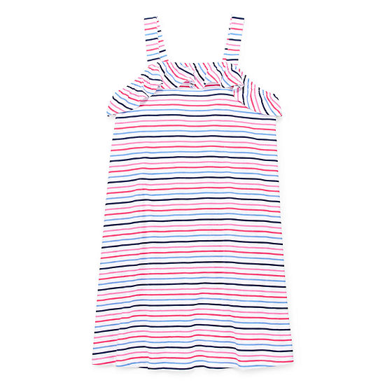 City Streets Little & Big Girls Sleeveless Striped A-Line Dress