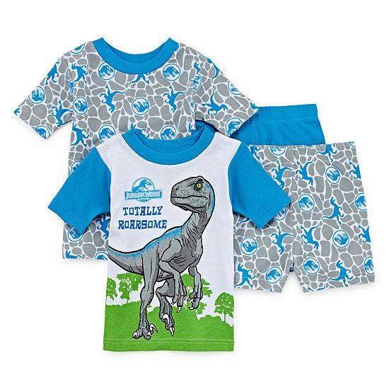 Universal Boys 4-pc. Jurassic World Pajama Set Toddler