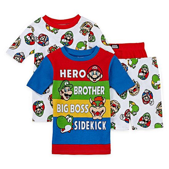 4-pc. Super Mario Pajama Set Preschool / Big Kid Boys