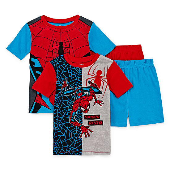 4-pc. Spiderman Pajama Set Preschool / Big Kid Boys