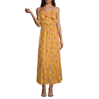 Peyton & Parker Sleeveless Yellow Floral Maxi Dress