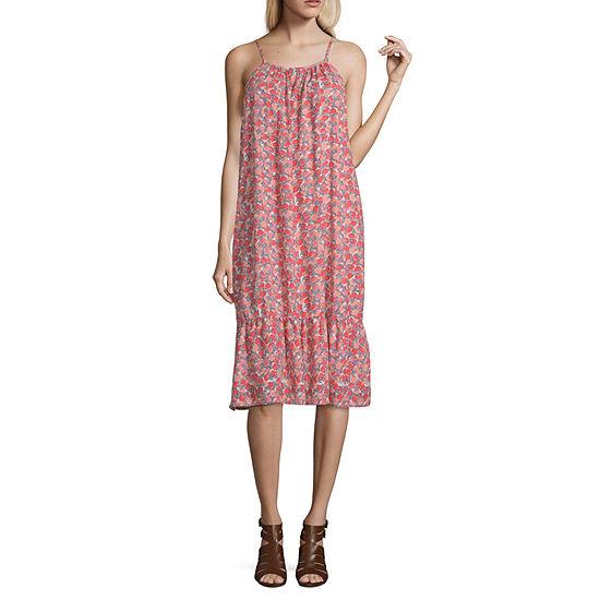 bdf181c48c2 Peyton   Parker High Neck Rose Garden Swing Dress - JCPenney
