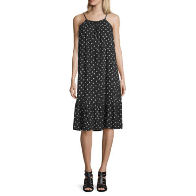 Peyton & Parker Short Sleeve Dots Swing Dresses