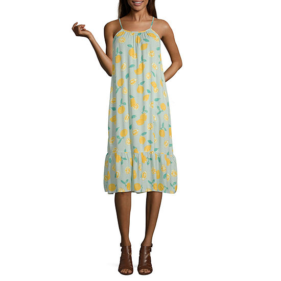 Peyton & Parker High Neck Lemon Swing Dress