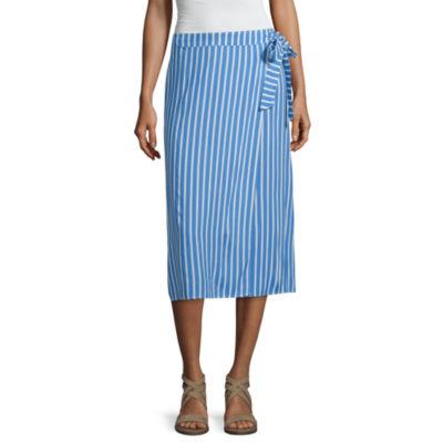 Mixit Womens Mid Rise Midi Wrap Skirt