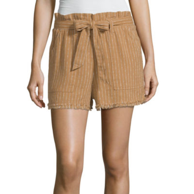 Unionbay Womens Mid Rise Soft Short-Juniors