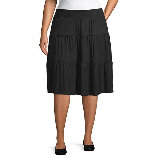St. John's Bay Flip Flop Skirt - Plus