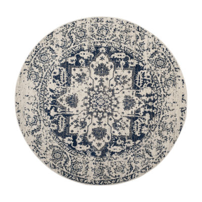 Safavieh Madison Collection Alene Oriental Round Area Rug