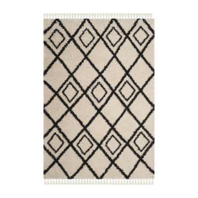 Safavieh Moroccan Fringe Shag Collection Aidan Geometric Area Rug
